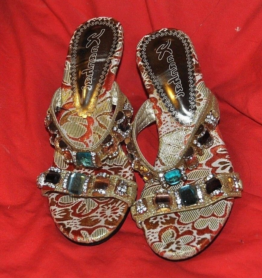 Jeweled Sandals, New, see below for brand.  SIZE 34  NEW WITHOUT BOX