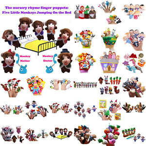 Familie-Fingerpuppen-Tuch-Puppe-Baby-Bildungs-Hand-Toy-Story-Kinder-Party-Au