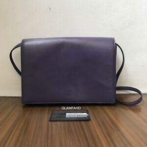 Pre-Owned-Authentic-MCM-Violet-Leather-Shoulder-Bag-Slingbag