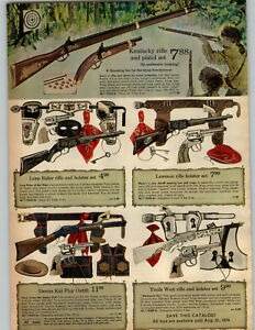 1973 PAPER AD 2 Pg Toy Gun Rifle Pistol Kentucky Denim Kid