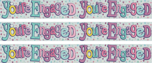 YOU/'RE ENGAGED MULTI COLOURED ENGAGEMENT FOIL PARTY BANNER EX