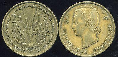 Gematigd Afrique Occidentale Francaise 25 Francs 1956 Chinese Smaken Bezitten