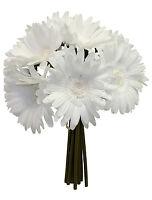 White Gerbera Gerber Daisy Bridal Bouquets Silk Wedding Flowers Centerpieces