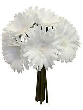 WHITE Gerbera Gerber Daisy Bridal Bouquets Silk Wedding Flowers Centerpieces NEW
