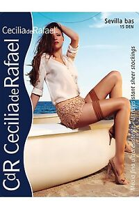 83b4e158e56 Cecilia de Rafael Sevilla Gloss Shiny Thigh High Hold Up Stockings ...