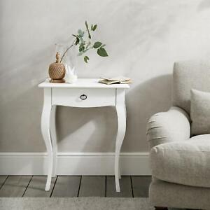 NEW The White Company Provence Side Table Brass Handle White RRP £250 <>
