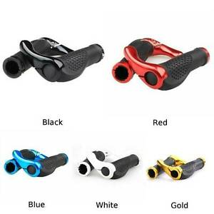 Silica-Gel-Mountain-MTB-Cycling-Bike-Bicycle-Handlebar-Grips-With-Bar-Ends-13CM