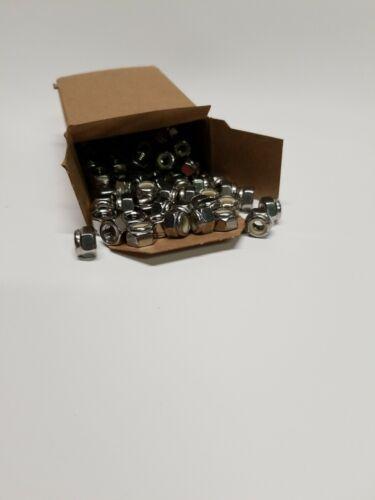 "Nylon Insert Locknut 1//4/""-20 Stainless Nyloc 18-8 S.S. 100 pieces Free Ship."