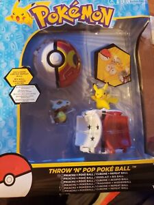"Pokemon Throw /""n/"" Pop Poke Ball W// PIKACHU Cubone Repeat Action Figure Game New"