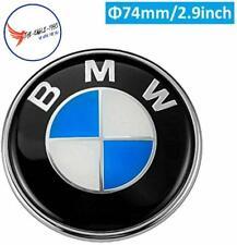 Carbon Fiber Emblems Replacement 82mm Hood Emblem and 74mm Trunk Emblem Fit for 325i 328i E46 E30 E36 E34 E38 E39 E60 E65 E90 Most Models Black