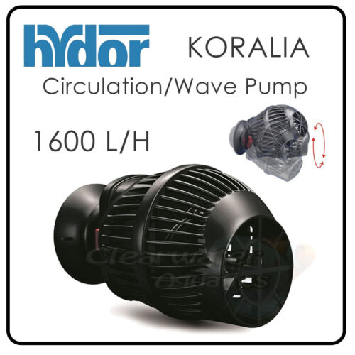 Hydor Koralia Circulation Wave Pump Reef Aquarium Marine Fish Tank Wavemaker Nouveau