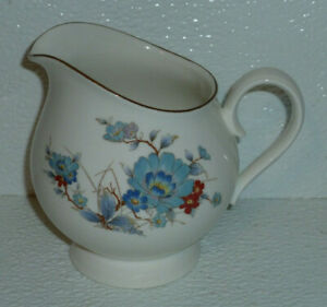 Noritake-Creamer-BLEUFLEUR-Vtg-1983-Blue-Flowers-Bleu-Fleur-Versatone-4-034