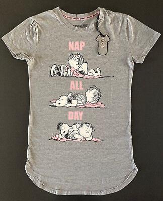 c6651a1010b932 Peanuts Snoopy Damen Nachthemd Bigshirt Schlafshirt Sleepshirt XS-S Grau  Primark   eBay