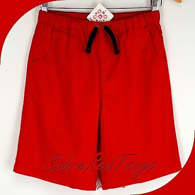 NWT HANNA ANDERSSON COMFORT CAREFREE SHORTS TWILL APPLE RED 90 3T 3