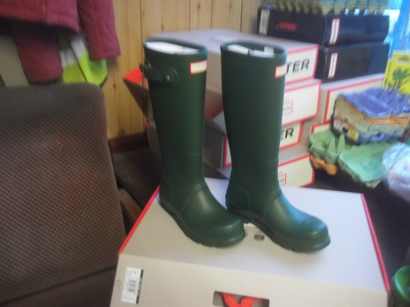 HUNTER WELLINGTONS WELLIES  IN HALIFAX & BRADFORD OLIVE  GREEN MENS SIZE 10