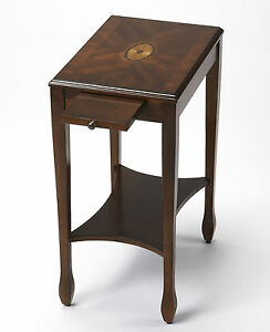 Image Is Loading Bryn Mawr Inlaid Side Table End Cherry
