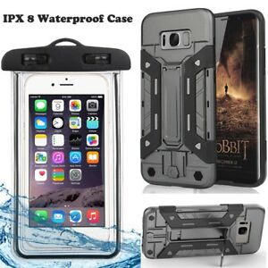 half off 26b7c ffab6 Shockproof Kickstand Credit Card Holder Case Waterproof Pouch For ...