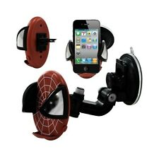 Support universel auto 2en1 pour Apple iPhone 4 / 4S motif toile couleur rouge