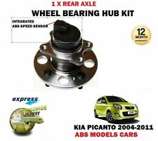 FOR KIA PICANTO 1.0 1.1  2004-2011 NEW ABS REAR 1 X WHEEL BEARING HUB KIT