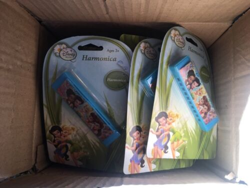 Great Party Favor Case Of 12 NEW Disney Fairies Sealed plastic toy Harmonicas