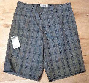 Topman Mens Tailored Check Shorts Size 32 Waist Bnwt Rrp 44 Grey
