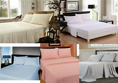 """Kingsize 5/' bed 13/"""" extra depth fitted sheets 68pick easy care 50//50 polycotton"""