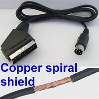RGB Scart Lead for Sega MegaDrive Games Console (quality screened cable) NEW