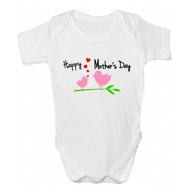 Cute Babies Clothing Happy Mother/'s Day Tulips Baby Grow Bodysuit