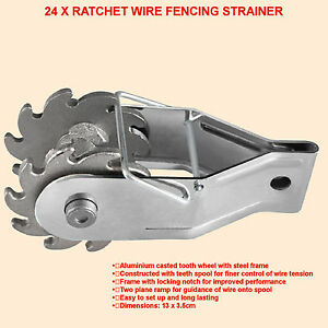 24-x-Ratchet-Wire-Fencing-Strainer-Electric-Fence-Energiser