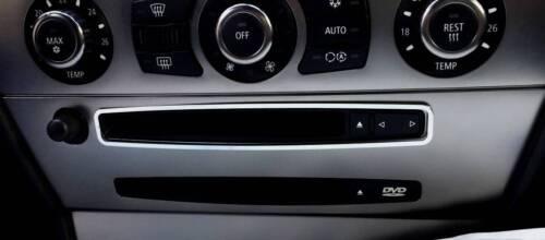 D BMW E63 Edelstahl poliert E64 Chrom Rahmen für CD Einschub