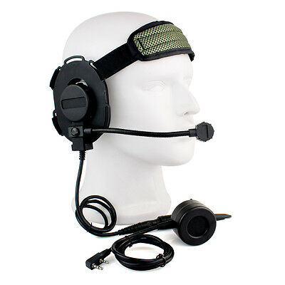 HD03 Z Tactical Bowman Elite II Headset PTT for Kenwood 2 Pin Two-way Radios