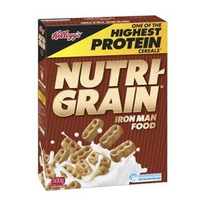 Kellogg's Nutri-Grain Protein Breakfast Cereal 500g