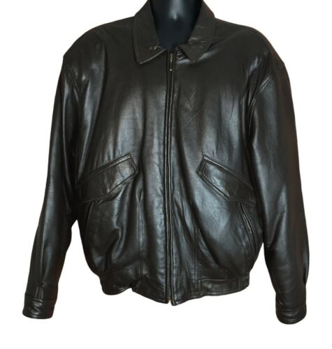 Vintage Leather Bomber Jacket Collezione Concepts
