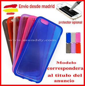 FUNDA-Silicona-Gel-Tpu-transparente-Para-IPHONE-7-Protector-cristal-opcional