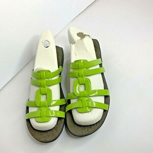 Clarks-Privo-Womens-Green-Sz-8-M-Slip-On-Sandals-Slides-Shoes