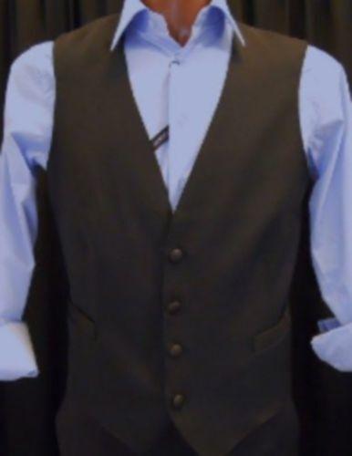 Gilet black men Elegante Da Lavgold Bar Bottone black gold Classico con Martingala