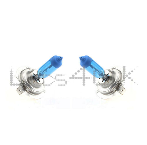 2x H7 55W Xenon Effect Blue Glass Headlight Halogen Bulbs 2 PIN Connector