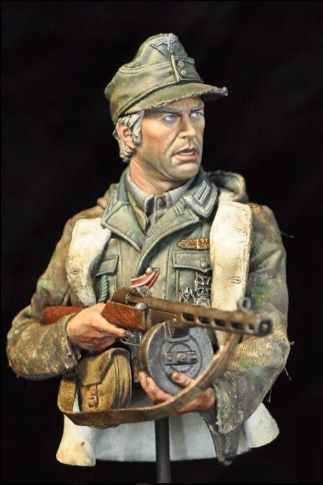 Alexandros Models Steiner German Soldier WW2 Bust 1 10th Unpainted Kit
