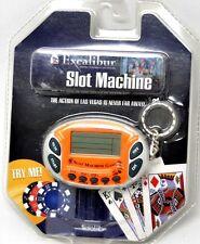 Excalibur Mini Slot Machine Keychain Casino Electronic Game Handheld K572 New