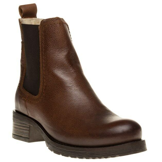 NUOVA linea donna unico TAN BROWN IN PELLE Verity Stivali Alla Caviglia Con Elastico Pull On