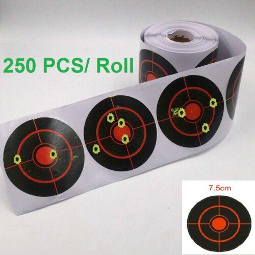 7.5cm 250 Pcs//Roll Shooting Adhesive Targets Splatter Reactive Target Sticker UK