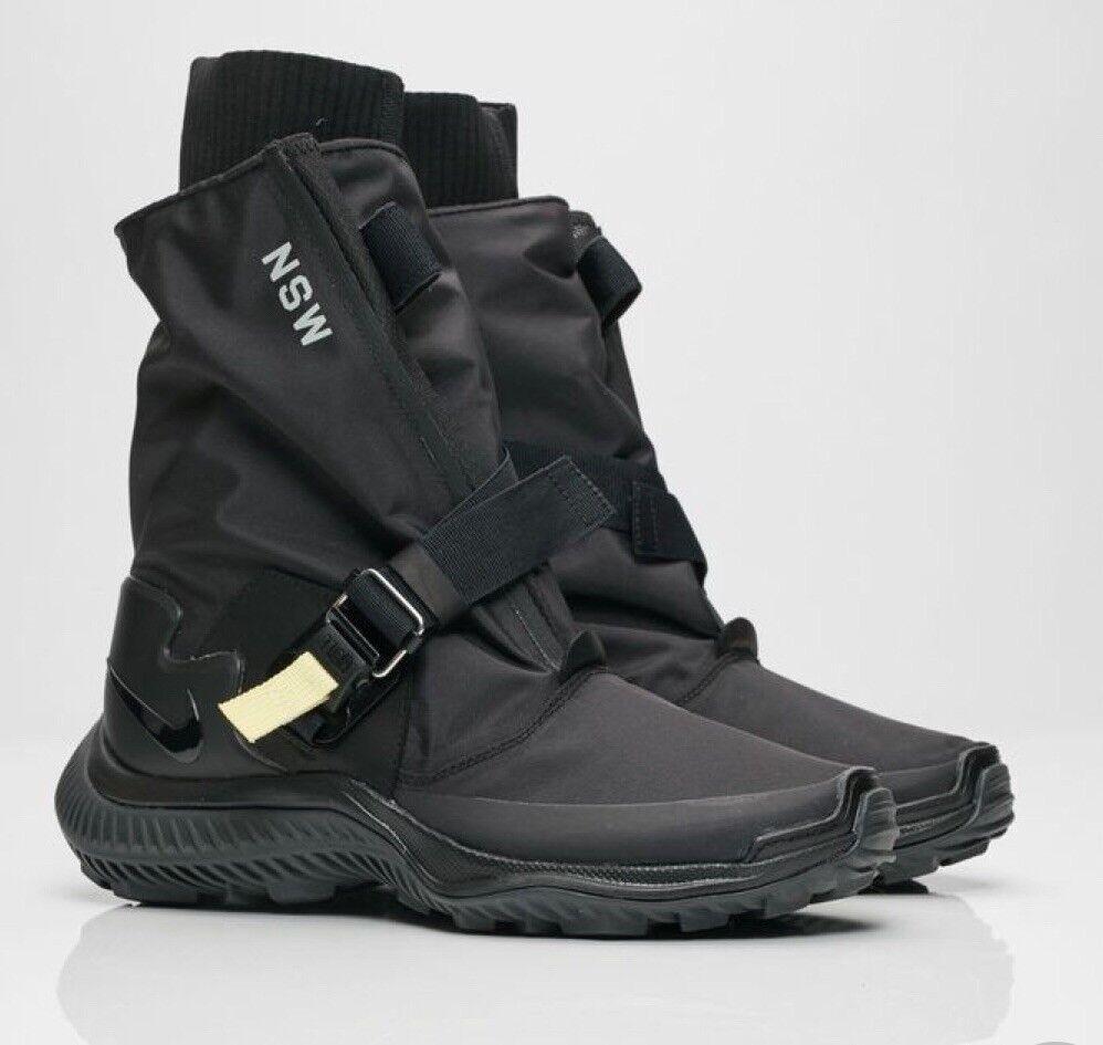 NIKELAB donna nero Winter stivali Gyakusou Gaiter scarpe da ginnastica  (US 9)