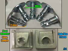 5x Rover 75 & MG ZT Metal Under Engine Cover Undertray Fitting Clip + Body Clip