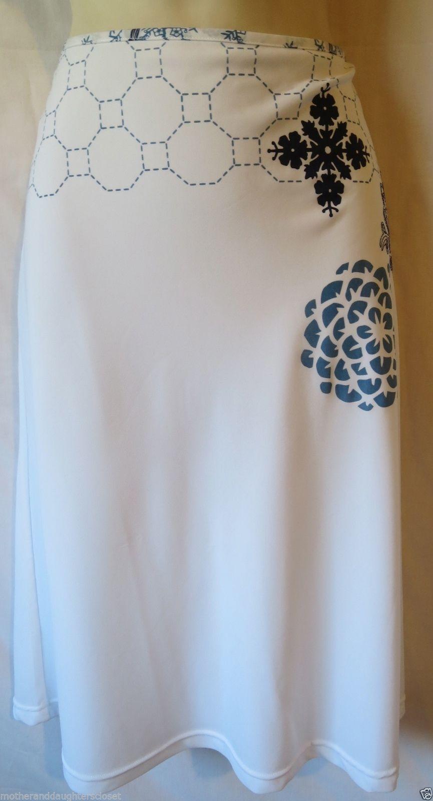 New Marlies Dekkers Willow Skirt color  White bluee Size  Medium 11271-25