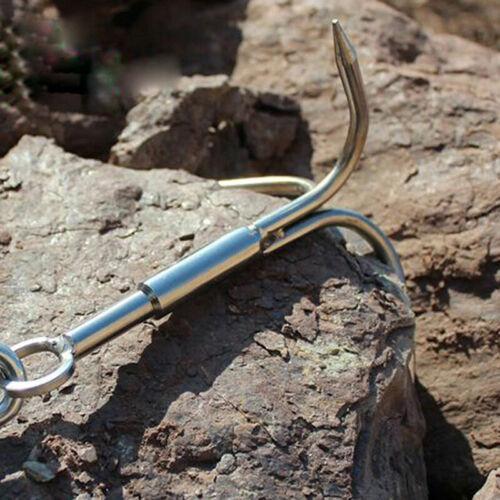 Steel Outdoor Survival Grappling Hook Rock Climbing Claw Carabiner