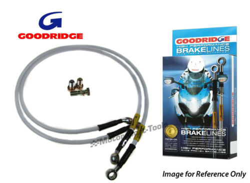 Goodridge For Kawasaki ZZR600 D1-D3 90-93 Race Front Braided Brake Lines Hoses S