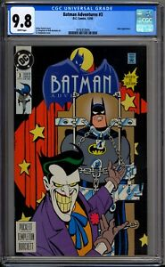 Batman-Adventures-3-CGC-Graded-9-8-NM-MT-Joker-Cover-DC-Comics-1992