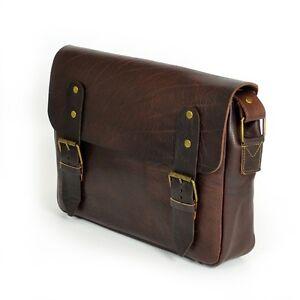 Aktentasche-Schultasche-Lehrertasche-Umhaengetasche-Leder-Tasche-Vintage-13-NEU