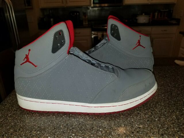 sale usa online best wholesaler catch NIKE AIR JORDAN 1 FLIGHT 5 MENS BASKETBALL SHOES SIZE 10.5 WOLF GREY GYM  RED...