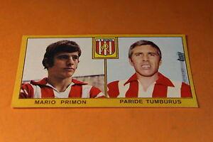NUOVA//NEW PRIMON//TUMBURUS FIGURINA CALCIATORI PANINI 1969//70 L.R VICENZA